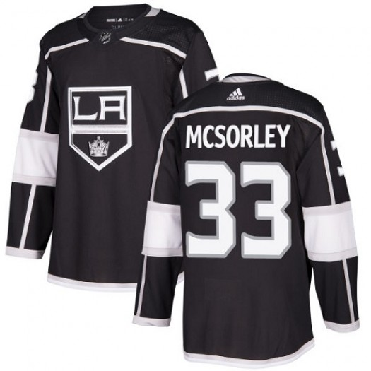 Marty Mcsorley Los Angeles Kings Youth Adidas Authentic Black Home Jersey