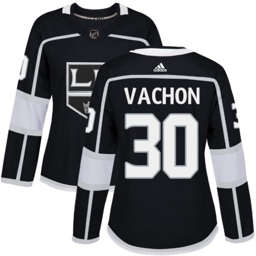 Rogie Vachon Los Angeles Kings Women's Adidas Authentic Black Home Jersey
