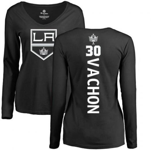 Rogie Vachon Los Angeles Kings Women's Adidas Premier Black Home Jersey