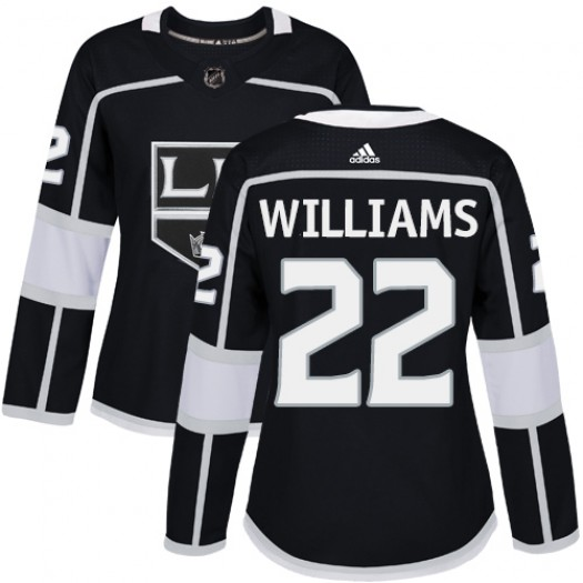 Tiger Williams Los Angeles Kings Women's Adidas Authentic Black Home Jersey