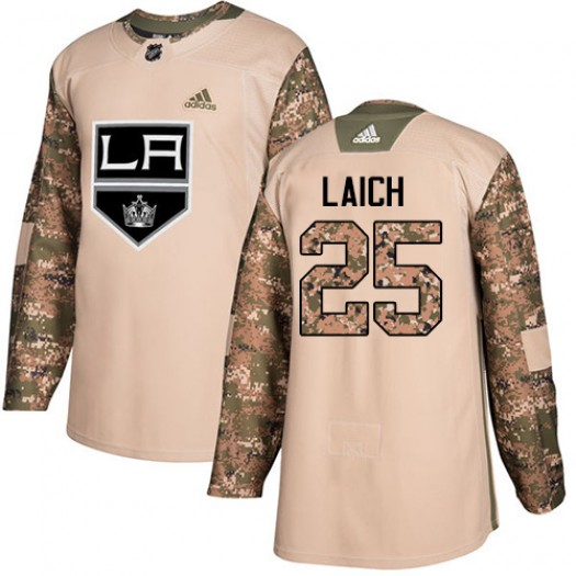 Brooks Laich Los Angeles Kings Men's Adidas Authentic Camo Veterans Day Practice Jersey
