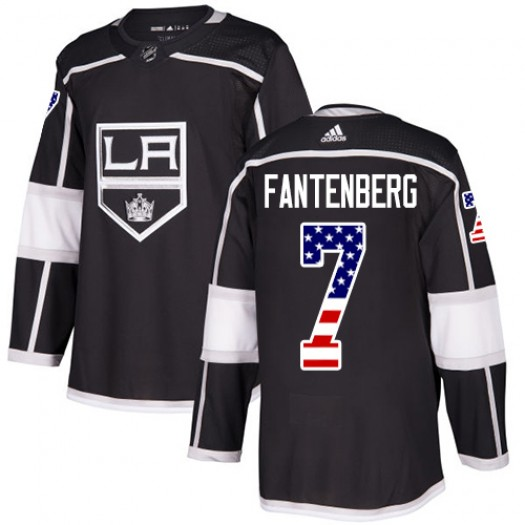 Oscar Fantenberg Los Angeles Kings Men's Adidas Authentic Black USA Flag Fashion Jersey