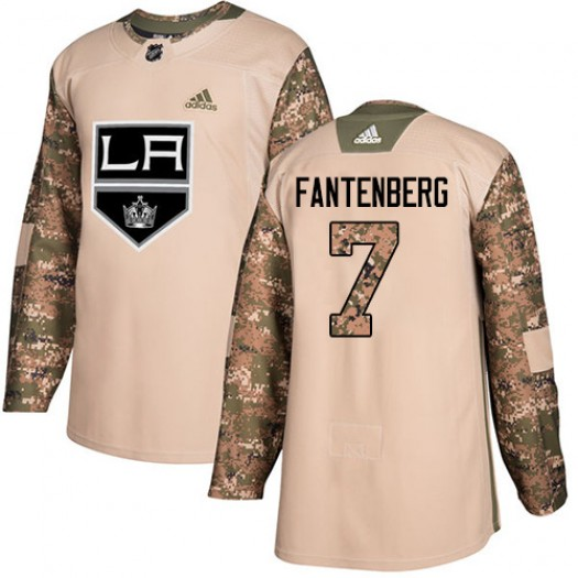 Oscar Fantenberg Los Angeles Kings Men's Adidas Authentic Camo Veterans Day Practice Jersey