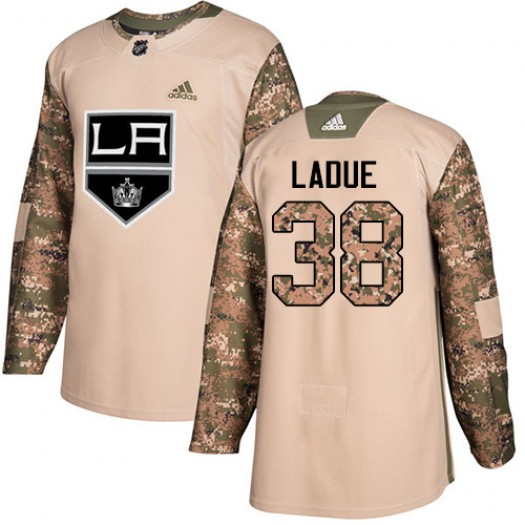 Paul LaDue Los Angeles Kings Youth Adidas Authentic Camo Veterans Day Practice Jersey