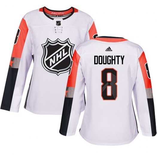 Drew Doughty Los Angeles Kings Women's Adidas Authentic White 2018 All-Star Pacific Division Jersey